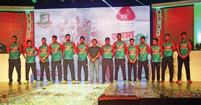 নতুন জার্সি-তে বাংলাদেশ ক্রিকেট দল