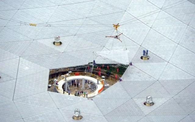 চীনের তৈরী বিশ্বের সবচেয়ে বড় রেডিও টেলিস্কোপ