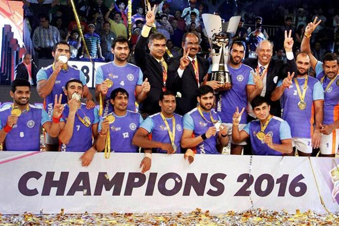 কাবাডি বিশ্বকাপ ২০১৬: ইরানকে হারিয়ে চ্যাম্পিয়ন ভারত