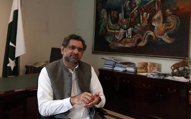 পাকিস্তানের অন্তর্বর্তী প্রধানমন্ত্রী শহিদ খাকান আব্বাসি
