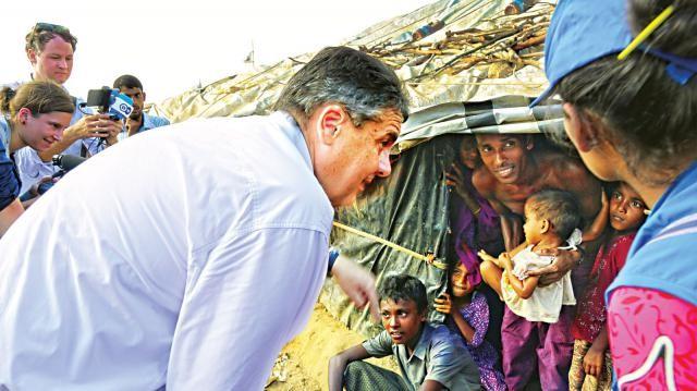 উখিয়ার শিবিরে তিন দেশের পররাষ্ট্রমন্ত্রী , রোহিঙ্গাদের ফেরত পাঠাতে ভূমিকা নেবে জার্মানি