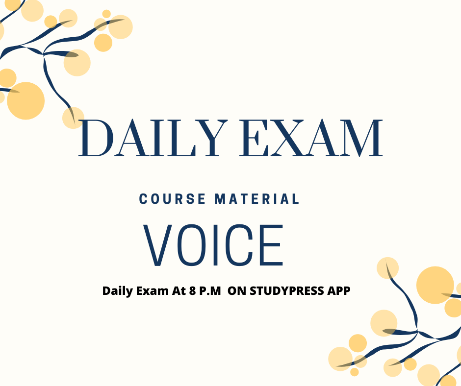 Course Material: Voice