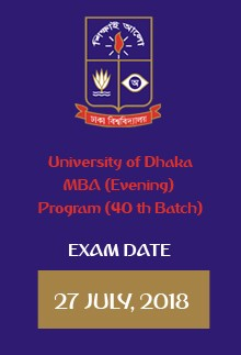 Evening MBA Exam Date